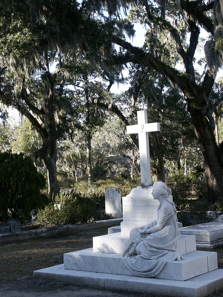 "Bonaventure Cemetery, featured in ""Midnight in the Garden of Good & Evil"" - Savannah, GA 2002"