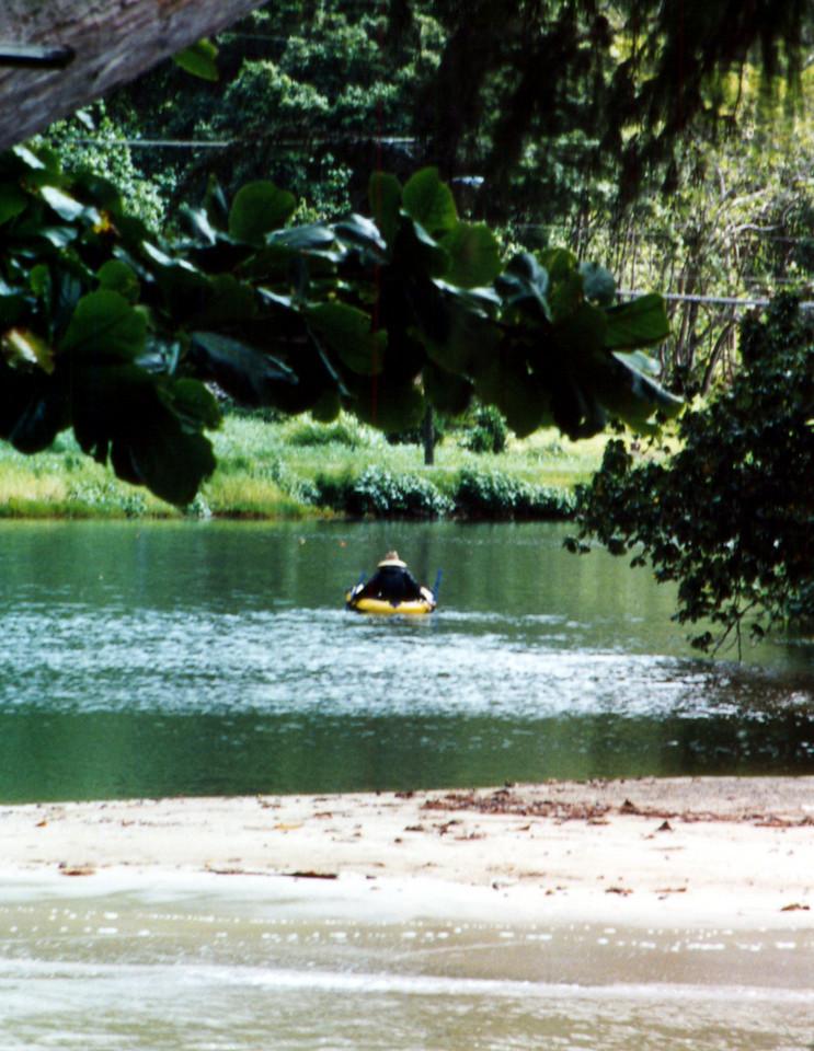 paddler on windward fishpond 1999 Sept