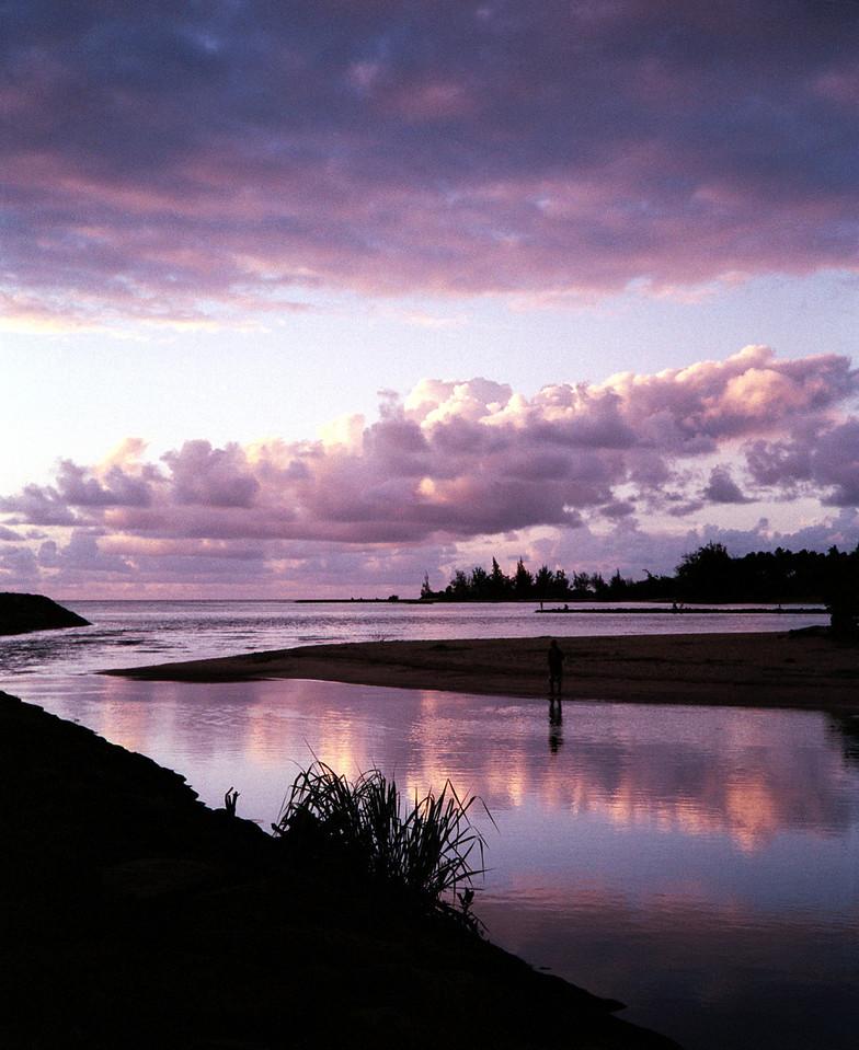 Anahulu Stream sunset2 1999 Aug