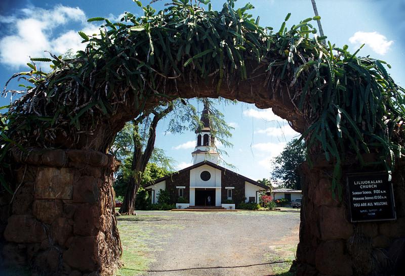 Queen Lilliuokalani church - Hale'iwa, HI  2000 Jan