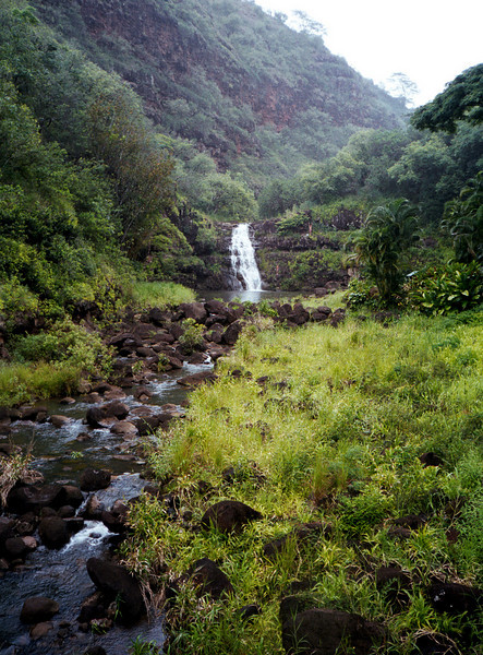 Waimea Falls & stream 1999 Aug