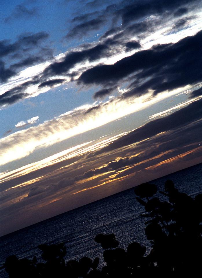 Hale'iwa sunset 1999 July