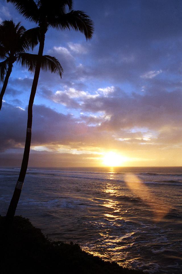 Maui sunset 1999 October