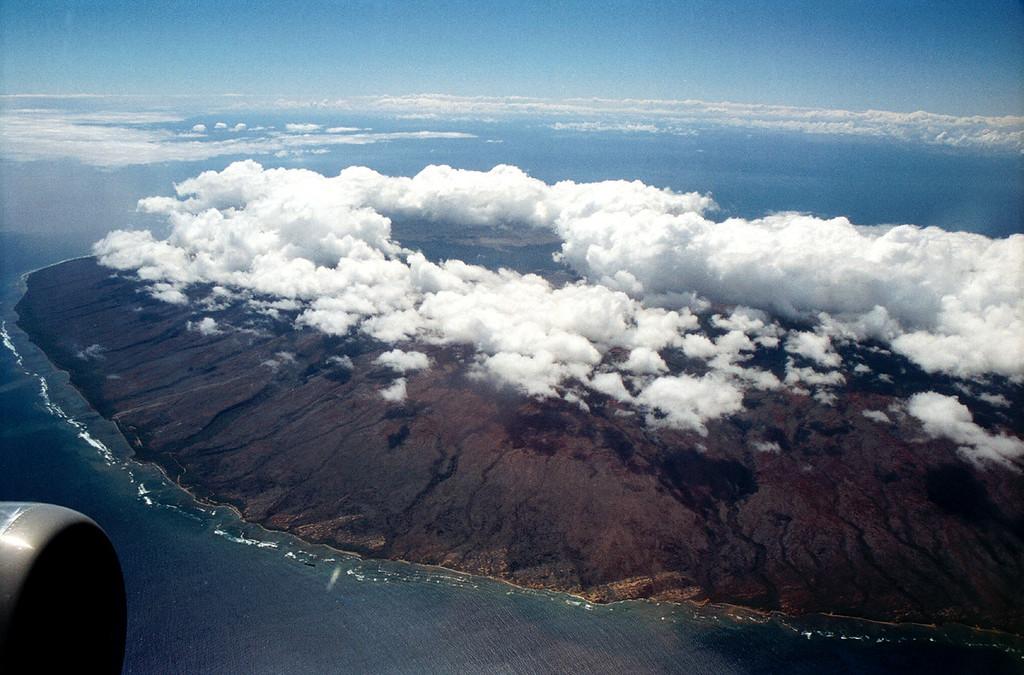 Moloka'i aerial view 1999 Oct