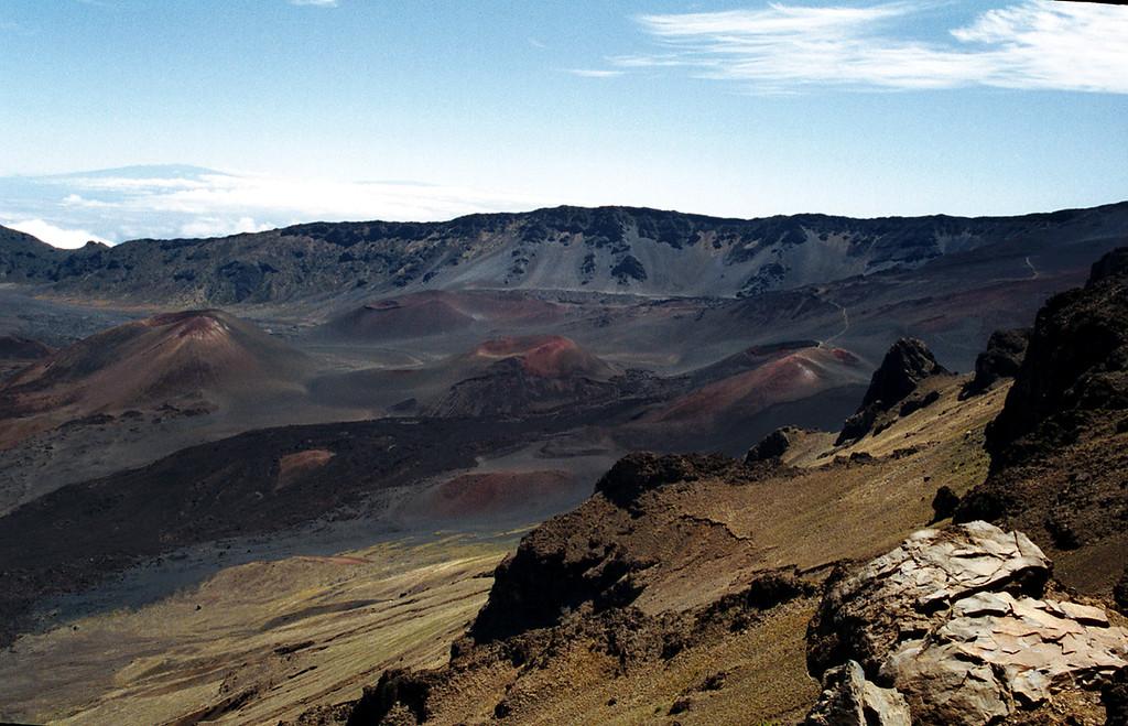 Haleakala Crater cinder cones - Maui 1999 Oct