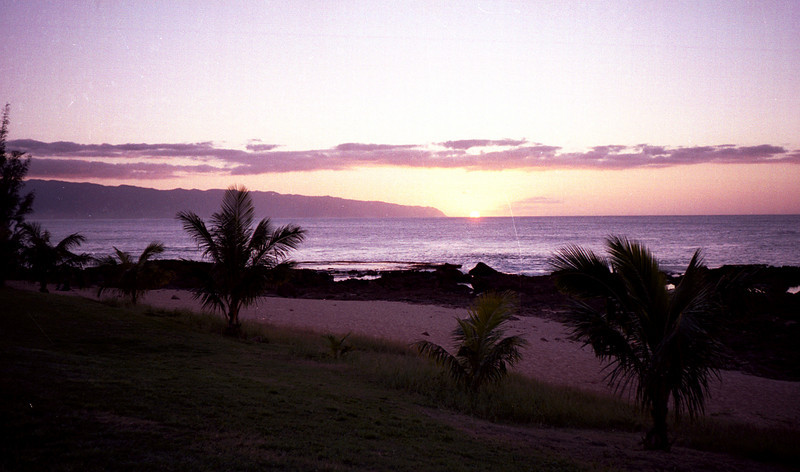 Pupukea sunset - O'ahu 2000 Jan