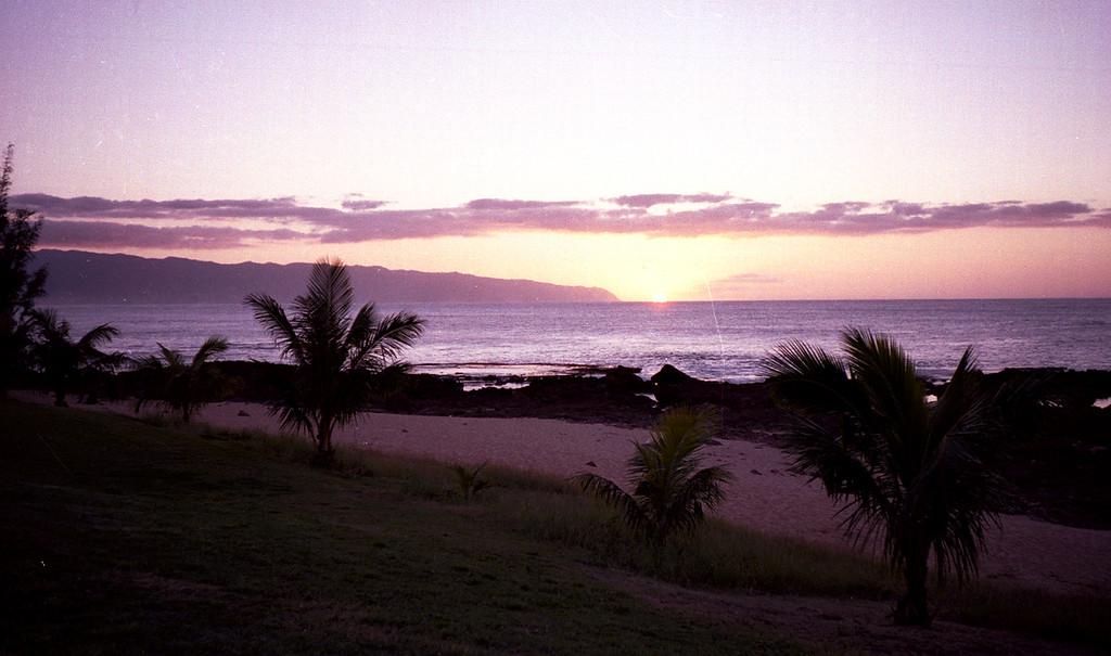 Pupukea sunset - O'ahu 2000 Jan