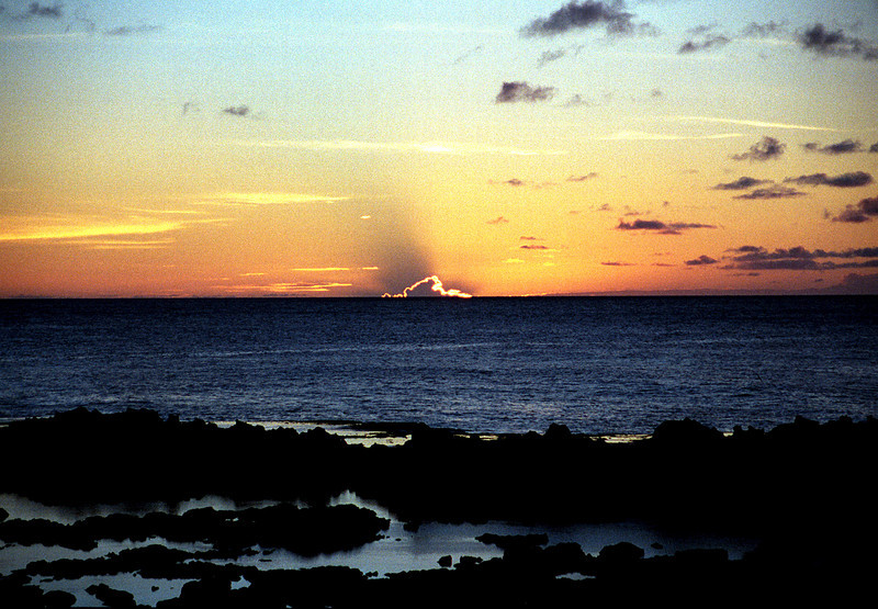 sunset @ Shark's Cove, O'ahu 1999