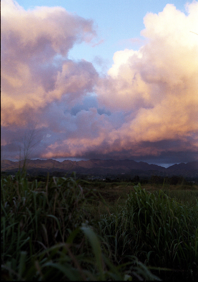 sunset over Central O'ahu  1999 Sept