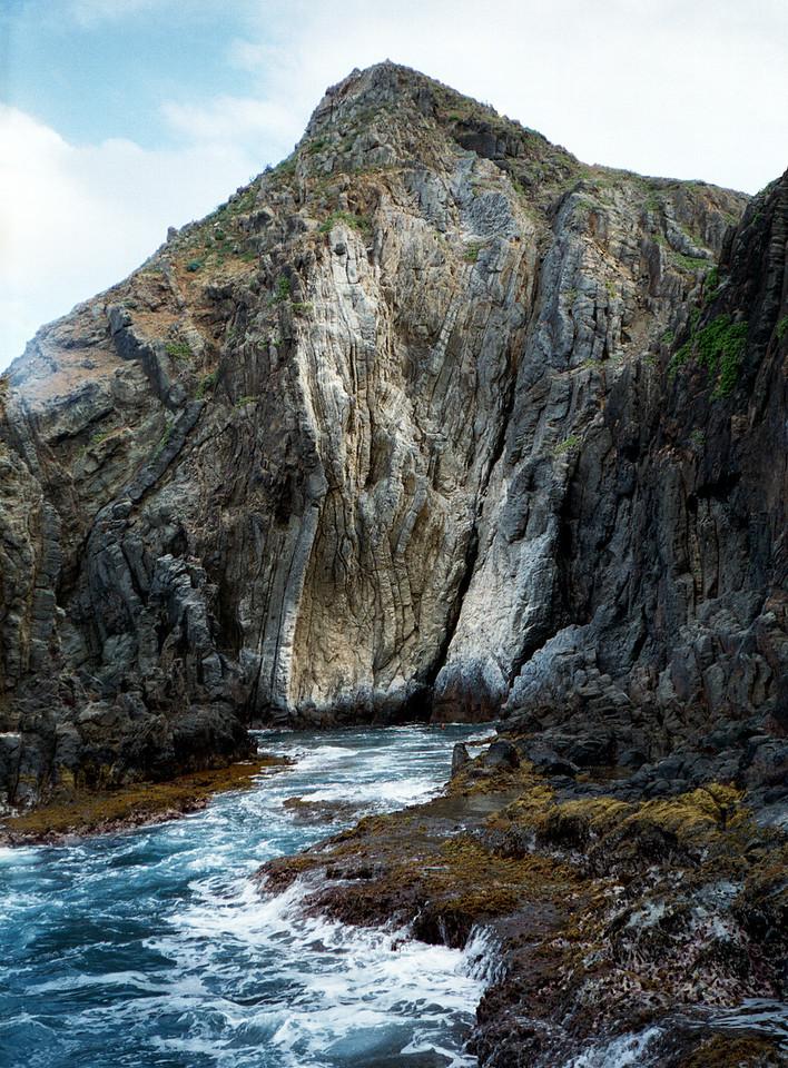 Mokulua Shark's Cove off windward O'ahu 2000 Feb