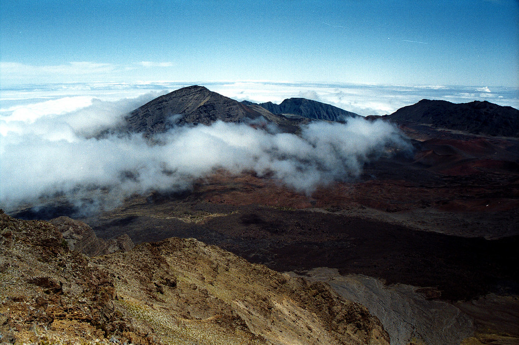 Haleakala Crater & clouds - Maui 1999 Oct