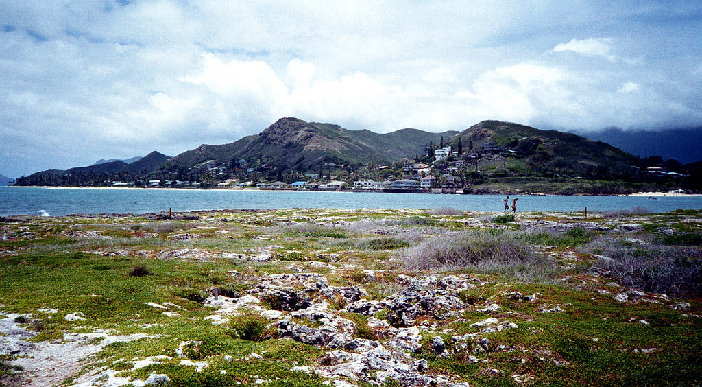 Kailua view from Flat Island - Windward O'ahu 1999 July