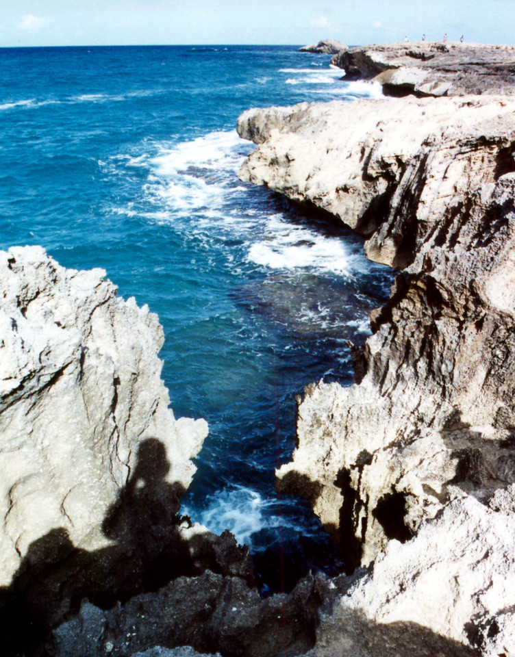 jagged rocks on Laie coast - O'ahu 1999 Sept