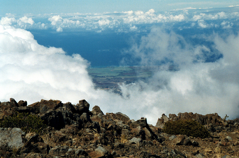 Haleakala view through the clouds - Maui 1999 Oct