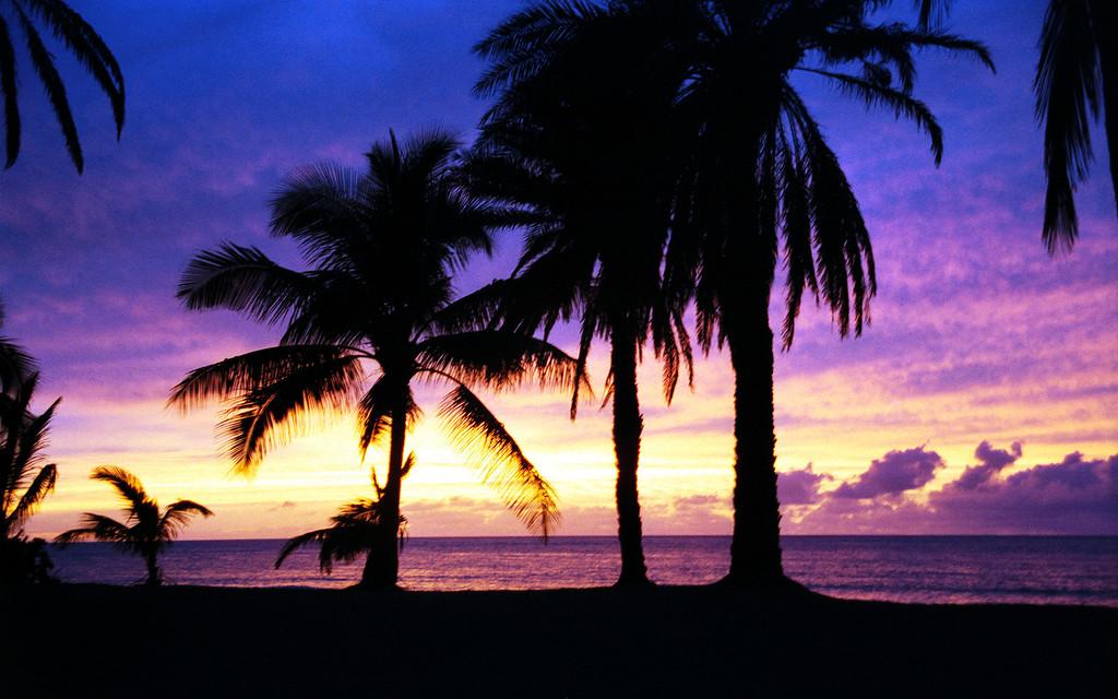 Ali'i Beach Park sunset! Hale'iwa, HI  1998 June