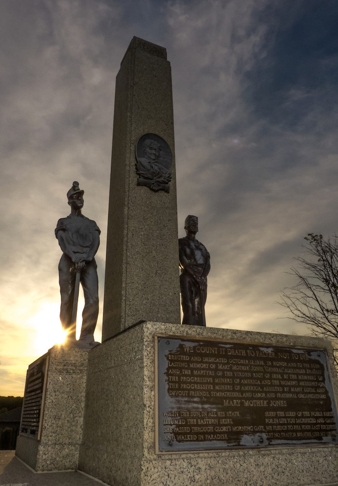 Mother Jones monument-Mount Olive, IL 8-11-2012