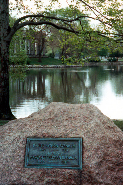 Graceland  Cemetary, Daniel Burnham's headstone - Chicago, IL 1992