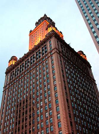 Jewelers Bldg, Michigan Ave, Chicago-former home to Al Capone's illegal speakeasy, the Stratosphere Club 7-3-2006