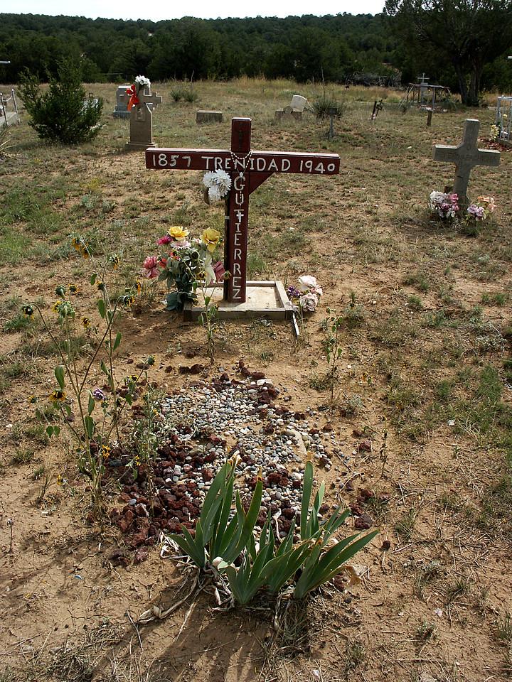 Trinidad Gutierrez' grave-Chilili cemetery, NM 10-2003.