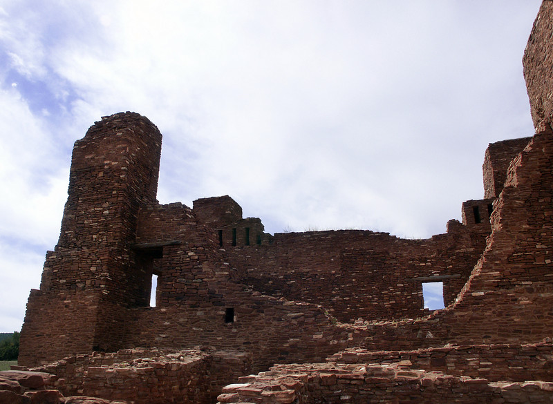 elevations, Quarai ruins, near Punta del Agua, New Mexico