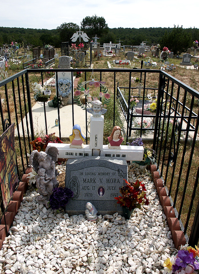 Mark Mora's grave-Chilili cemetery, NM 10-2003