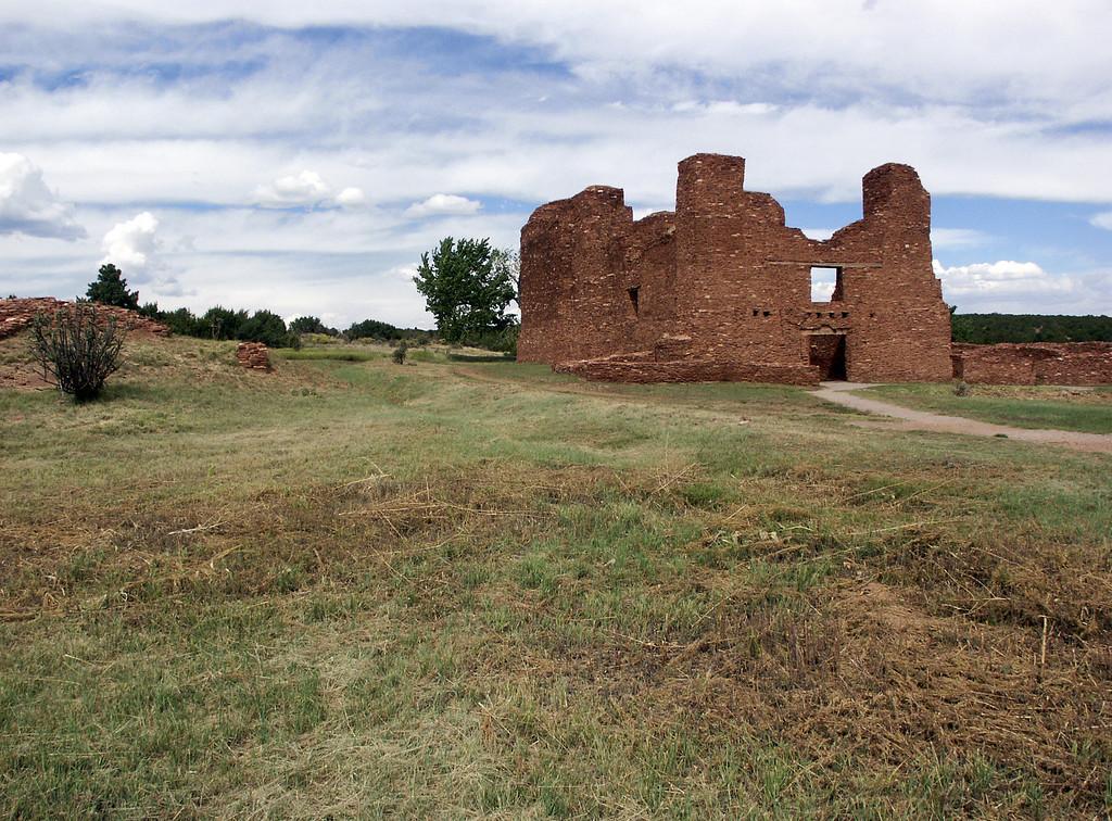Quarai Pueblo Mission ruins in the Estancia Valley, central New Mexico 10-2003
