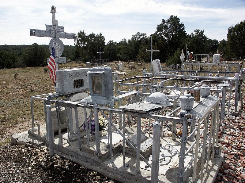 McAfee-Gutierrez memorial-Chilili cemetery, NM 10-2003