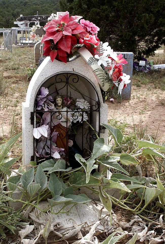 Grotto de Jesus-Chilili cemetery, NM 10-2003