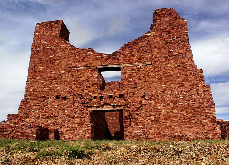 Quarai ruins facade in Salinas Pueblo Missions National Monument, central New Mexico