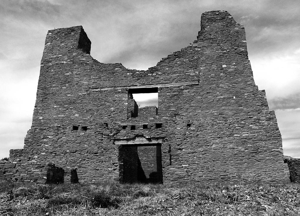 Quarai ruins facade in Salinas Pueblo Missions National Monument