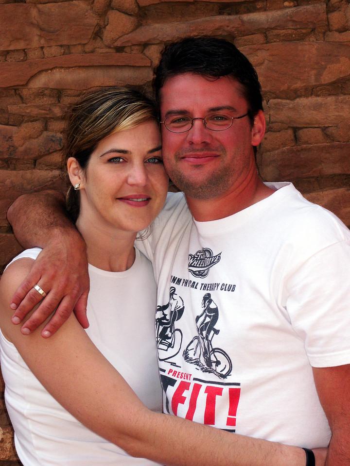 Brian & Tamara @ Quarai ruins, New Mexico
