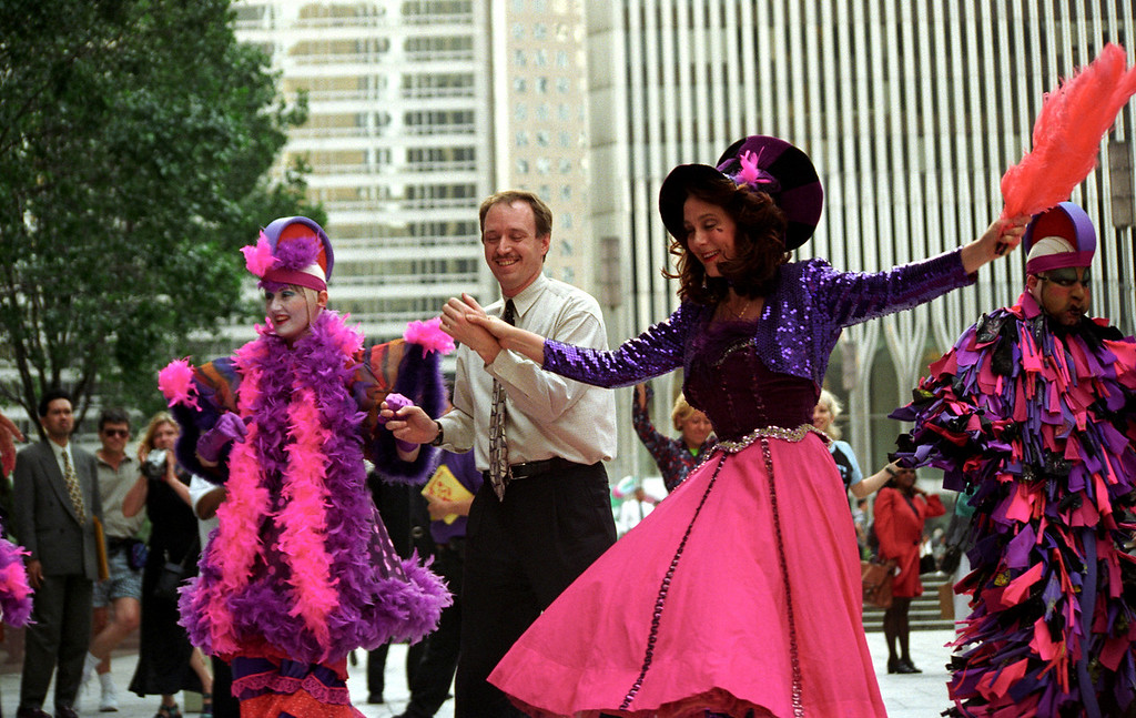 Buskers Fair - dancing in the streets - NYC 1997 June