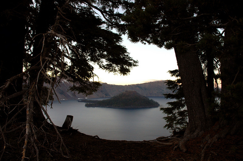 Wizard Island, Crater Lake National Park, OR 9-16-2006