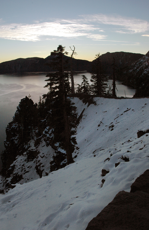 snowy slope-Crater Lake NP, OR 9-16-2006
