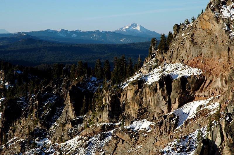 The Watchman, and Mt  Thielsen-Crater Lake NP 9-17-2006