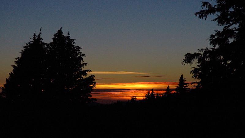 sun setting over Crater Lake National Park, Oregon 9-16-2006