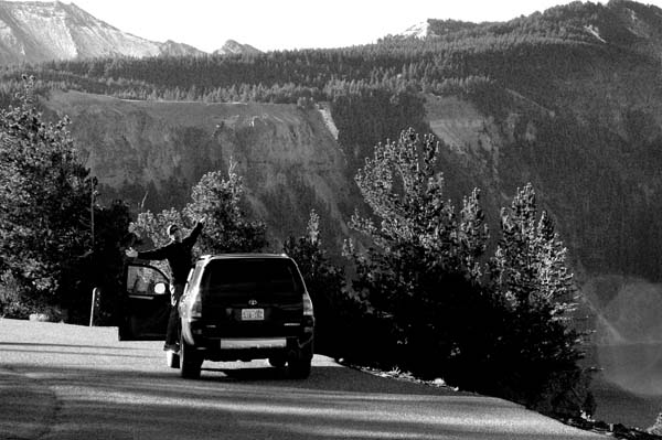 Rob on the road-Crater Lake National Park, Oregon 9-17-2