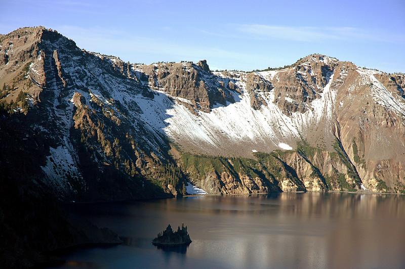 phantom ship in Crater Lake caldera, Oregon 9-2006