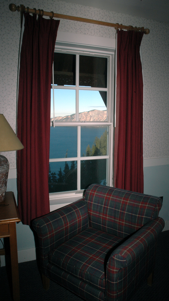 room with a view-Crater Lake Lodge, Oregon 9-16-2006