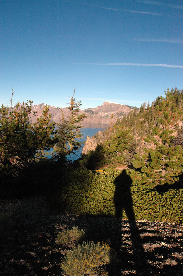 my shadow-rim of Crater Lake, OR 9-17-2006