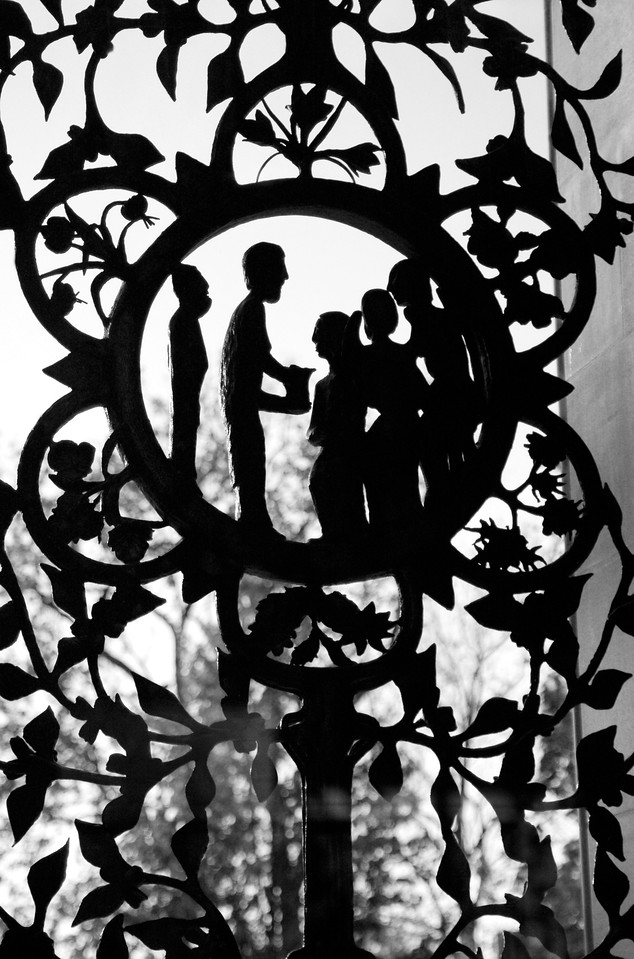 iron silhouettes @ National Cathedral-Washington D C  5-1-2008