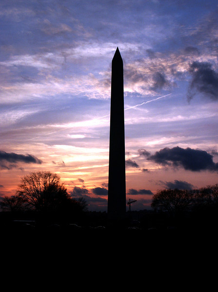 Washington Monument @ sunset -The Mall 2003 Mar