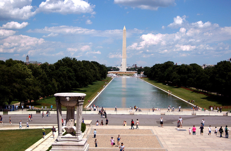 Washington Monument & Reflecting Pool from Lincoln Memorial 6-1-04