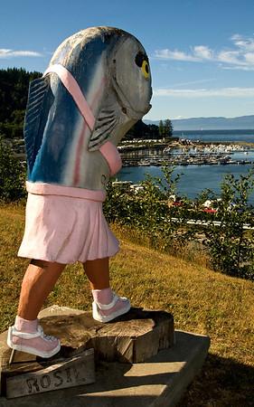 Rosie overlooking Sekiu Bay, WA 7-2008