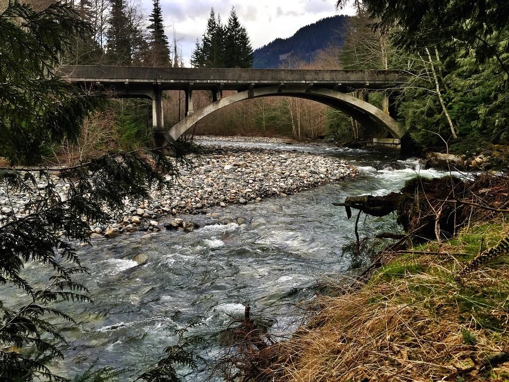 bridge over Denny Creek, WA 2-12-2015