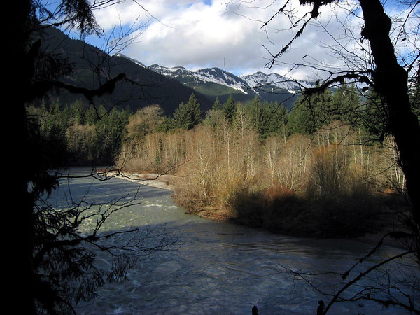 swollen waters, Middle Fork, Snoqualmie River-Lake Dorothy Road-North Bend, WA 11-16-2006