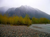 Mount Si in the mist above Three Forks-North Bend, WA 4-16-2006