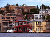 2-story houseboats on Lake Union, from duck tour-Seattle, WA 6-2010