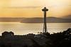 Space Needle from Volunteer Park watchtower, Seattle