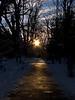 sunset trail @ Cedar River Watershed Education Center-Rattlesnake Lake, WA 1-1-2011
